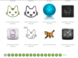With 16 pages of Kitty icons available, there's no good reason to NOT use Icons, Etc!