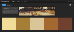 I uploaded my banner image to generate my e-portfolio's CSS color scheme.