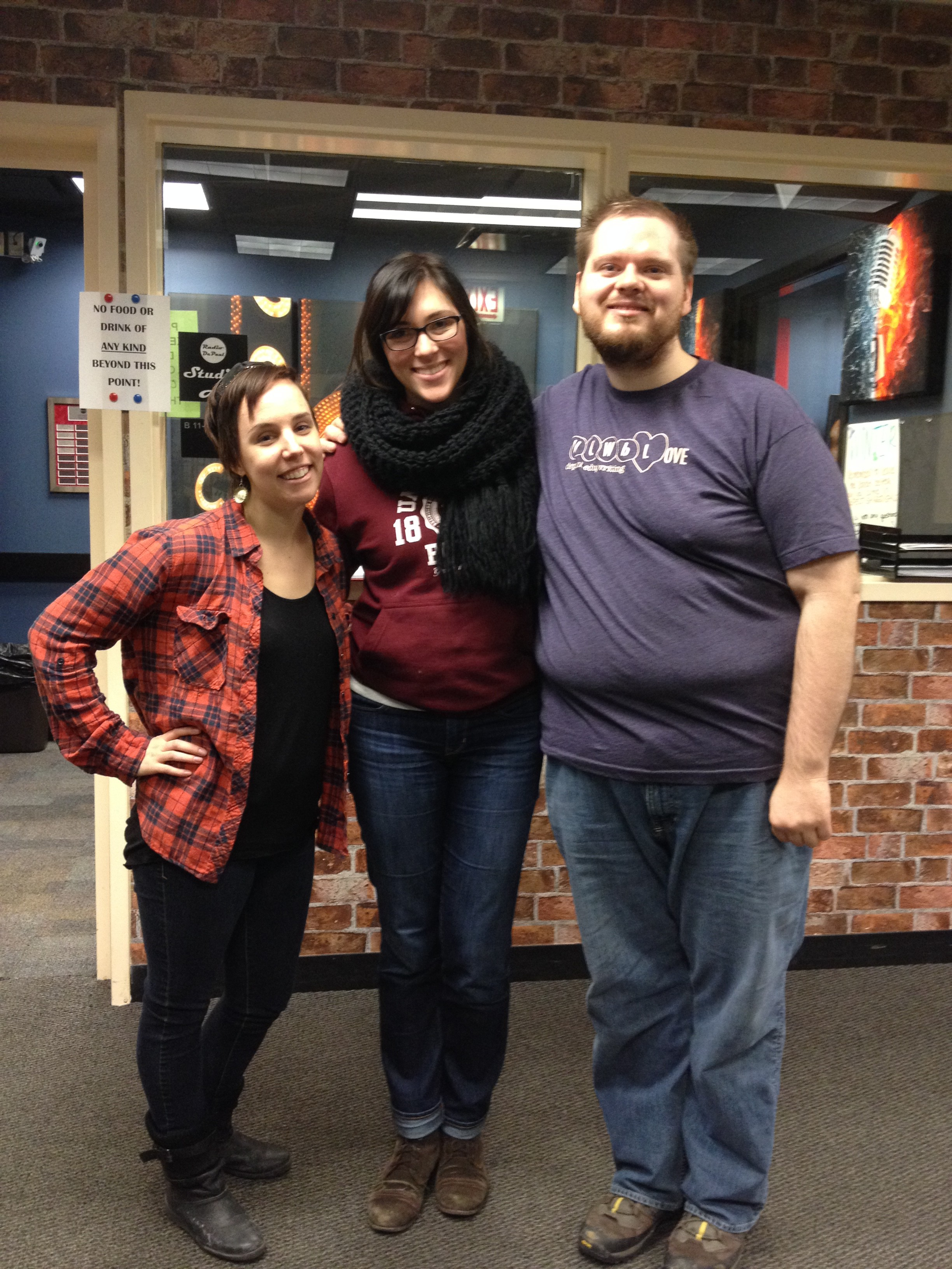 Amber, Megan, and Brandon had a swell time talking about the non-profit writing center, 826Chi!