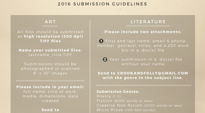 Crook & Folly Open Submissions!