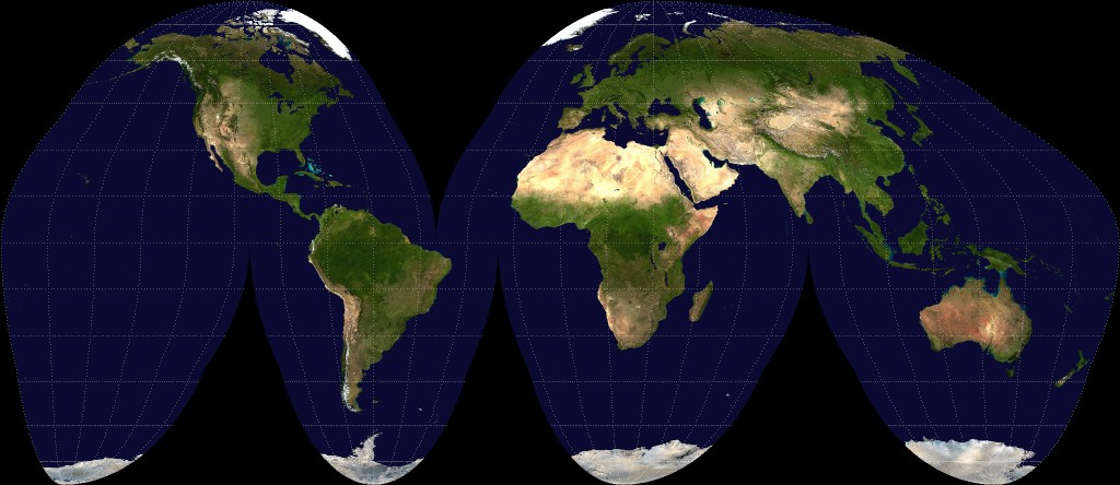 Goode-homolosine-projection