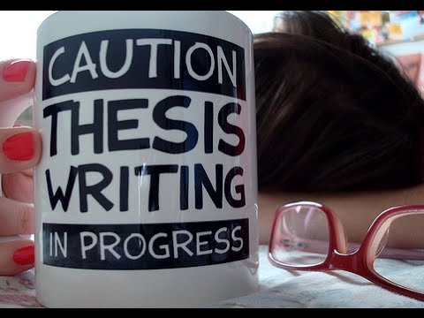 So you want to write a thesis?